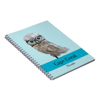 Burrowing Owl Painting Cape Coral FL Notebook