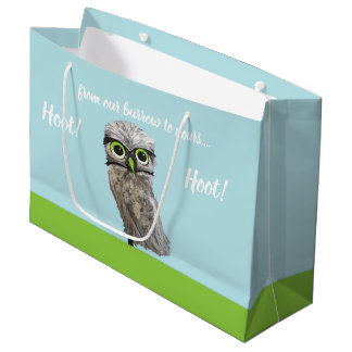 Burrowing Owl Painting Large Gift Bag