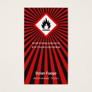 Burst Into Flames (flammable) Business Card