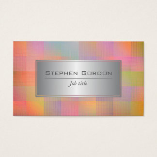 Burst of colour business card