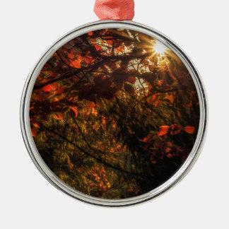 Burst of Fall Metal Ornament