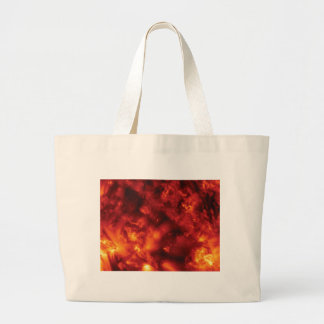burst of flame large tote bag