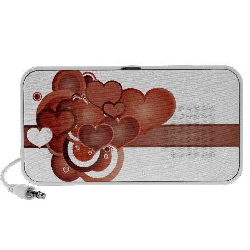 Burst of Hearts Laptop Speaker
