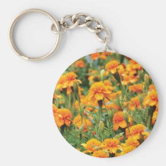 burst of orange color key ring
