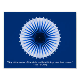 Burst of the Blues Poster Print