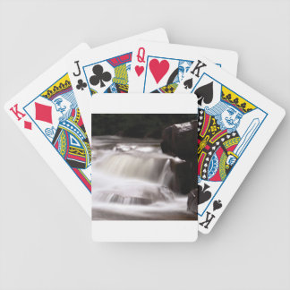 burst of water in creek bicycle playing cards