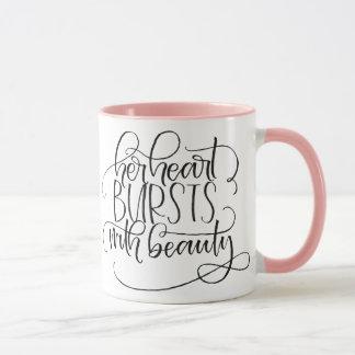 Bursting Beauty Ringer Mug