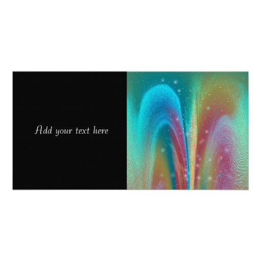 Bursting Nebula Fantasy Galaxy Abstract Art Photo Card Template