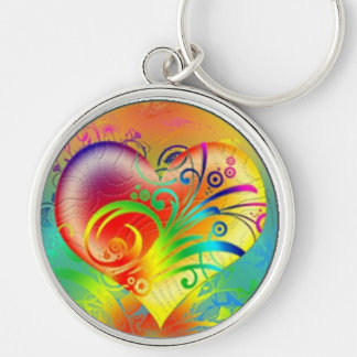 Bursting With Colorful Love Keychain