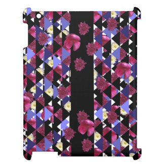 Bursting With Flowers & Triangles by KCS iPad Case