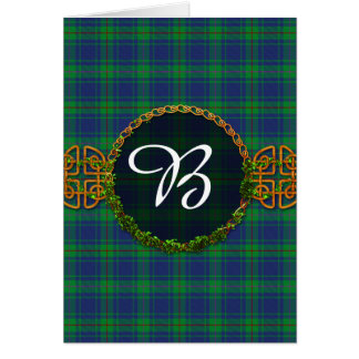 Burt Tartan And Monogram Card