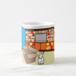 Burt the Bunny & a Box? Basic White Mug