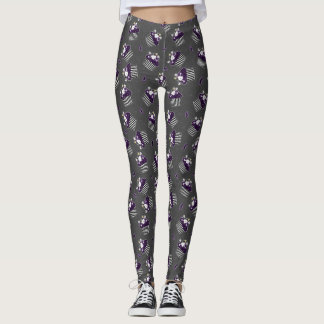 Burtonesque Skull Cupcake and Bats Leggings