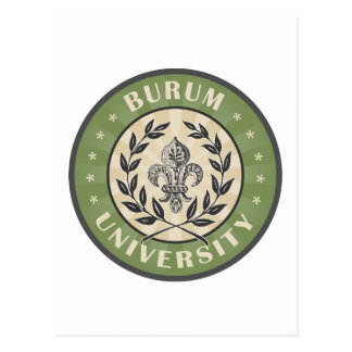 Burum University Vintage Green Postcard