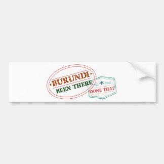 Burundi Been There Done That Bumper Sticker
