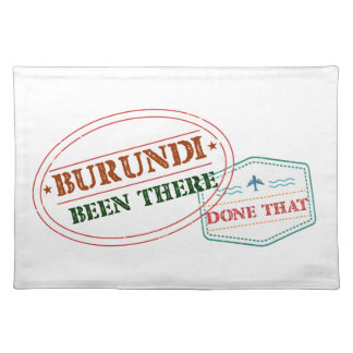 Burundi Been There Done That Placemat