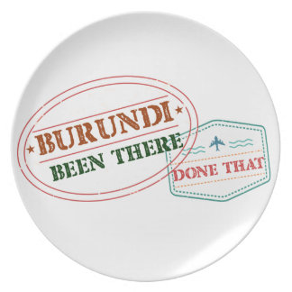 Burundi Been There Done That Plate