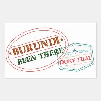 Burundi Been There Done That Rectangular Sticker