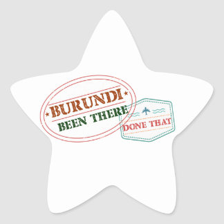 Burundi Been There Done That Star Sticker