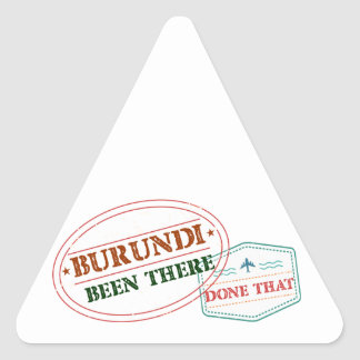 Burundi Been There Done That Triangle Sticker