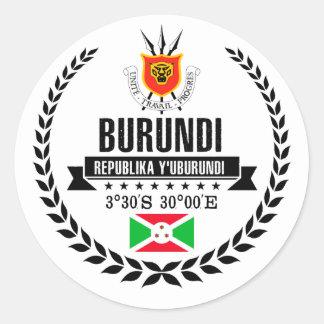 Burundi Classic Round Sticker