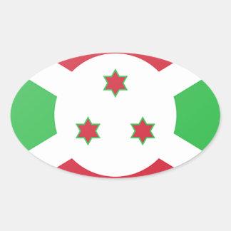 Burundi Flag Oval Sticker