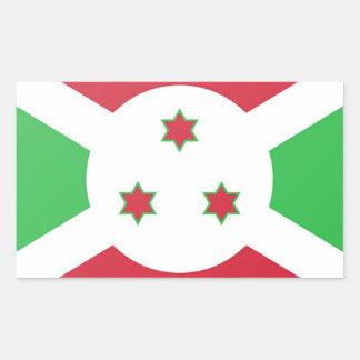 Burundi Flag Rectangular Sticker