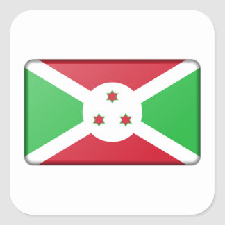 Burundi Flag Square Sticker