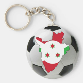 Burundi football soccer basic round button key ring