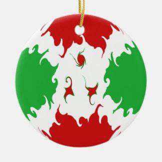 Burundi Gnarly Flag Christmas Ornament