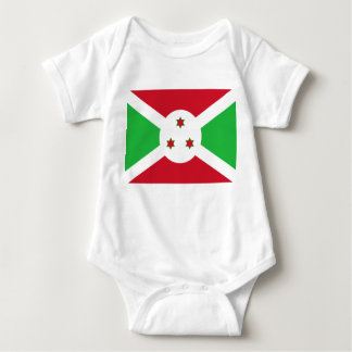 Burundi National World Flag Baby Bodysuit