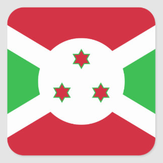 Burundi National World Flag Square Sticker