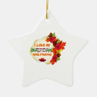 Burundian Girlfriend designs Christmas Tree Ornament