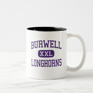 Burwell - Longhorns - High - Burwell Nebraska Two-Tone Coffee Mug