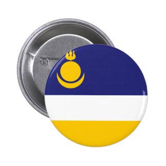 buryatia flag russia country republic region 6 cm round badge