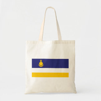 buryatia flag russia country republic region budget tote bag
