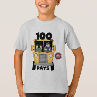 Bus 100 Days of School t-shirts and Gifts