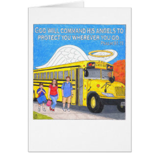 Bus Angel Greeting Card