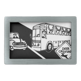 Bus Cartoon 3251 Belt Buckle