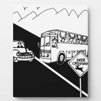 Bus Cartoon 3251 Display Plaques