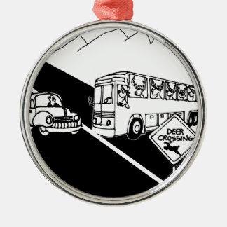 Bus Cartoon 3251 Metal Ornament
