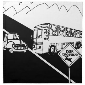 Bus Cartoon 3251 Napkin