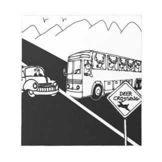 Bus Cartoon 3251 Notepad