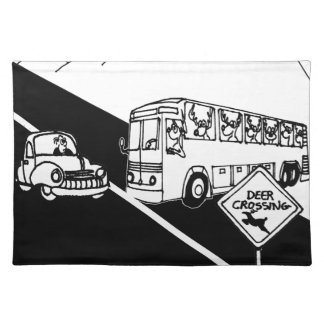 Bus Cartoon 3251 Placemat