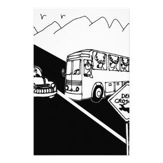 Bus Cartoon 3251 Stationery