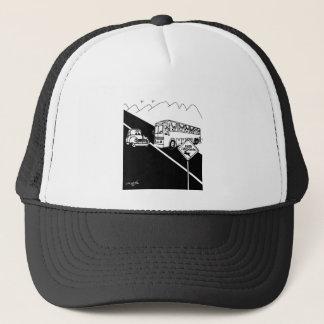 Bus Cartoon 3251 Trucker Hat