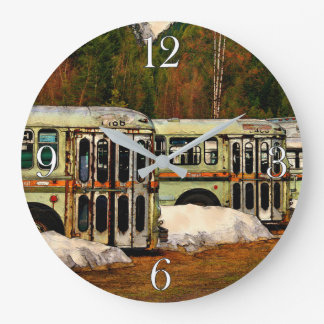 Bus Cemetery Large Clock