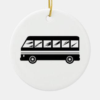 Bus Ceramic Ornament