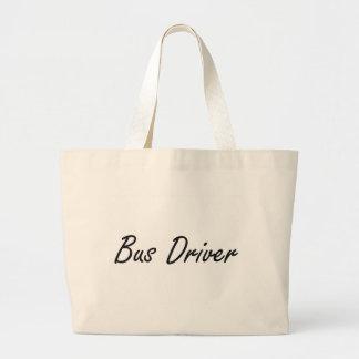 Bus Driver Artistic Job Design Jumbo Tote Bag