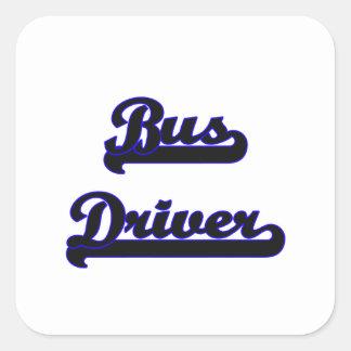 Bus Driver Classic Job Design Square Sticker